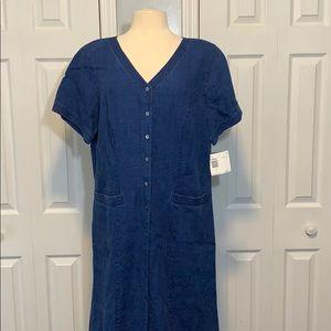 NWT Elisabeth by Liz Claiborne linen maxi dress